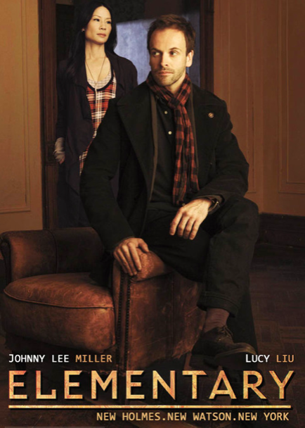 Poster of Elementary featuring Johnny Lee Miller and Lucy Liu.