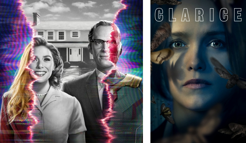 TV covers of WandaVision and Clarice